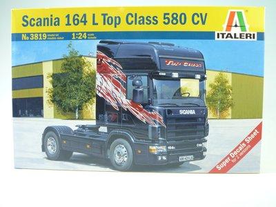 大千遙控模型 1/24 SCANIA 164L TOPCLASS 580 CV (3819) 拖車頭 靜態模型