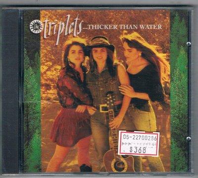[鑫隆音樂]西洋CD-The Triplets....Thicker Than Water {8482902}全新/免競