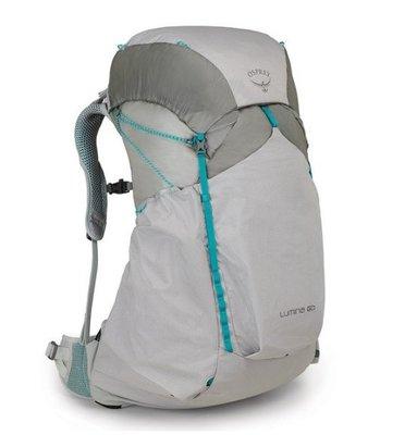 【Camphor Outdoor】 Osprey LUMINA 60 L Cyan Silver WS backpack 遠足 行山 露營 背囊 背包 登山包