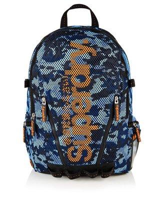 極度乾燥 Superdry Mesh Backpack 手提包 後背包 筆電包 輕量 網眼 運動包 藍迷彩/橘 現貨