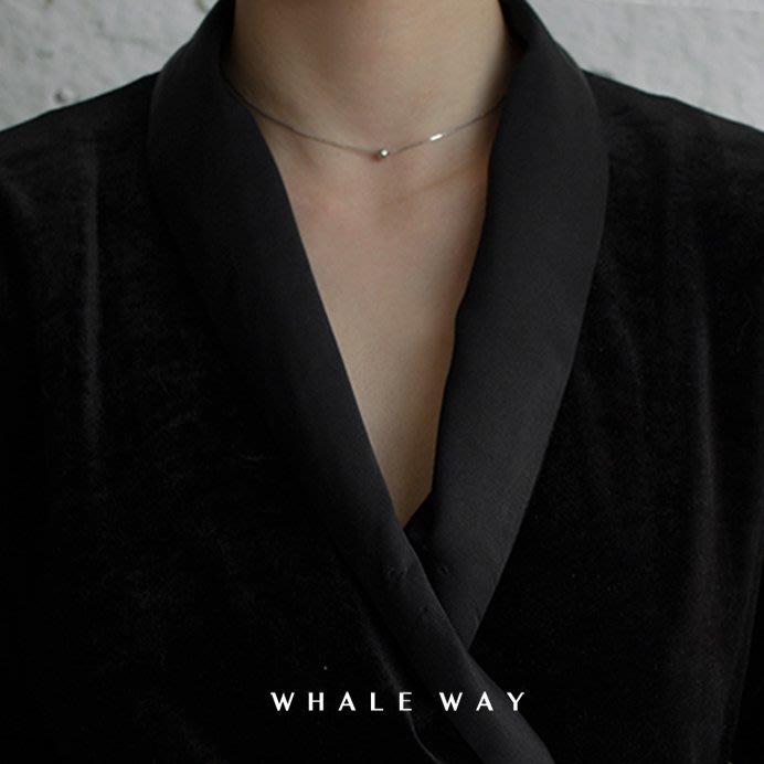 Lissom韓國代購~冰島系列s925純銀 ins歐美簡約圓珠鎖骨鍊短項鍊細頸鍊choker女