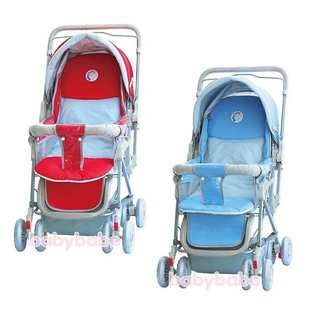 babybabe-雙向手推車(紅/藍)B309