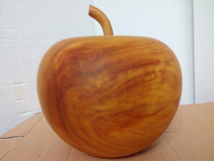 【九龍藝品】精選檜木 ~ 蘋果聚寶盆 ~ 閃花.寬約19公分