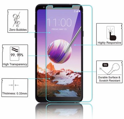 LG Q Stylus+ 透明鋼化防爆玻璃 保護貼 9H Hardness HD Clear Tempered Glass Screen Protector