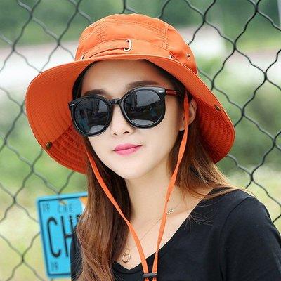 糖衣子輕鬆購【BA0087】韓版百搭摺疊漁夫帽防曬太陽帽遮陽帽登山帽