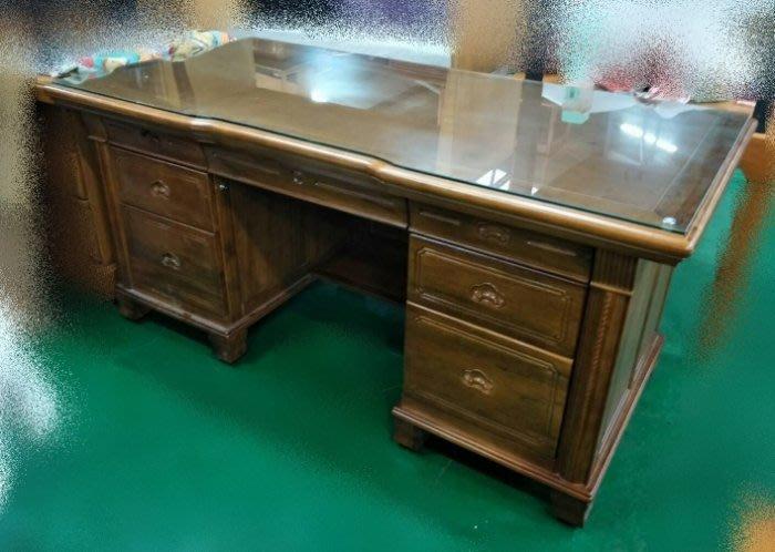台中二手家具賣場 推薦 大里宏品全新中古傢俱家電 EA814AJF*全新樟木書桌 原木辦公桌*主管桌 電腦桌 寫字桌