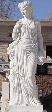 漢白玉人物雕塑 (四季女神)  H160CM