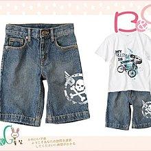 【B& G童裝】正品美國進口Crazy8骷顱頭標誌牛仔短褲6yrs