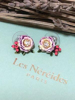 【ginger】Les Nereides (現貨)雪的詩歌系列~玫瑰花莓果耳環