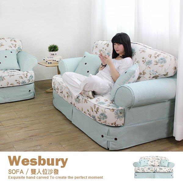 沙發 布沙發 二人位沙發 古典 復古 美式鄉村經典【WB2】品歐家具