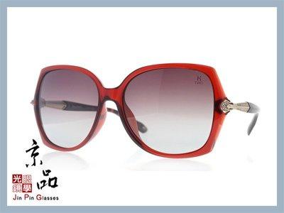 【HelenKeller】H 8303 -P07 紅 金色框 漸層灰色偏光鏡片 太陽眼鏡 公司貨 JPG 京品眼鏡
