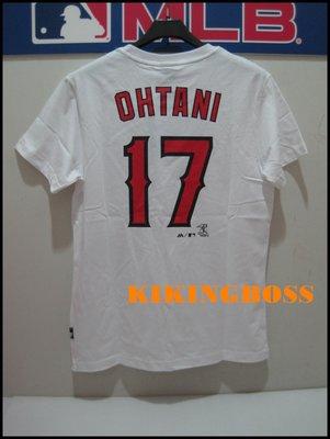 【喬治城】MLB美國大聯盟 天使隊 大谷翔平 Ohtani 號碼T 17號 白色 6760217-800