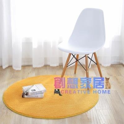 圓形地毯 金黃色圓形地毯電腦轉椅吊籃紅色防滑地墊草坪綠色防滑瑜伽坐墊-芊芊思語-可開發票
