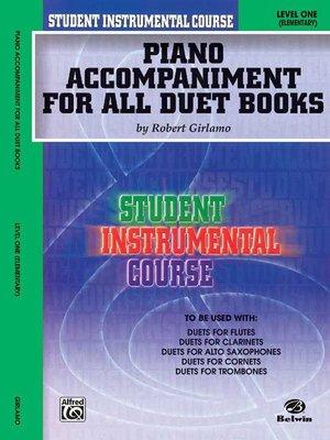 【599免運費】SIC【Piano Accompaniment for All Duet Books Level 1】