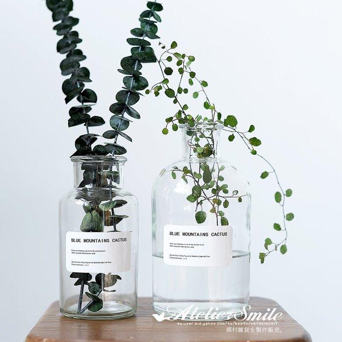 [ Atelier Smile ] 鄉村雜貨 北歐風 INS 家居裝飾 透明玻璃花瓶 # 1000ML (現+預)
