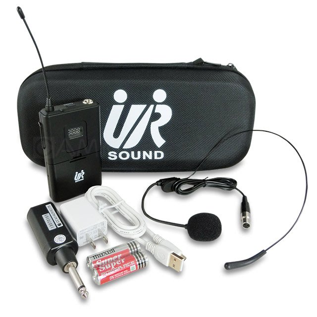 (台灣製)視聽影訊 UR SOUND UHF攜帶式無線麥克風(腰掛式)UR101RU