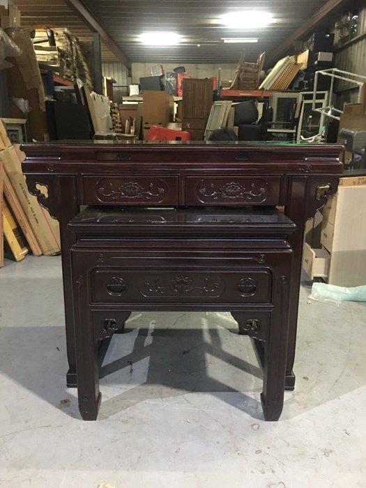 二手家具全省收購(大台北冠均 五股店)二手貨中心--實木製佛桌 神桌 上下桌FD-112802