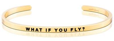 MANTRABAND 美國悄悄話手環 WHAT IF YOU FLY 勇敢飛翔吧 金色手環