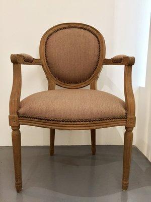 【一(藝)窩】十九世紀 西式扶手椅~榆木~