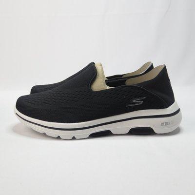 Skechers GO WALK 5 - JETTER 健走鞋 可機洗 55523BKW 男款 黑【iSport愛運動】