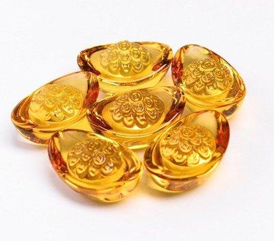【準提無意間】買10贈1 * 黃水晶元寶  銅錢款  5公分  大號  琉璃  養晶  開運招財進寶擺飾