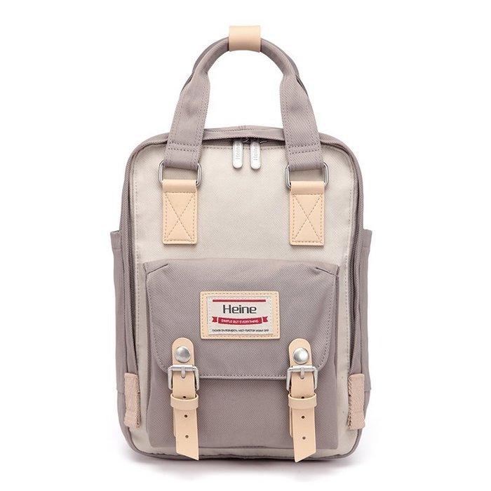 【24小時急速出貨】Heine 可愛兒童包 青少年背包 後背包 女用背包 時尚包款 防潑水尼龍面料-淺灰色