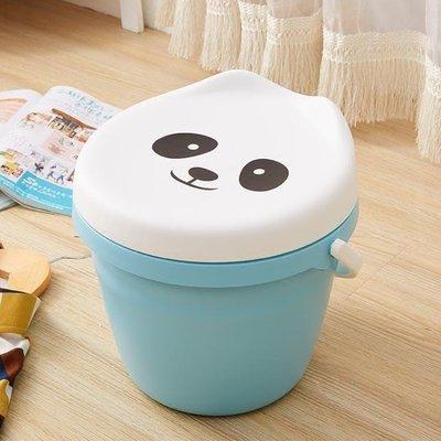 YEAHSHOP 桶凳兒童卡通收納玩具儲物凳子多功能可坐塑料手提圓凳Y185