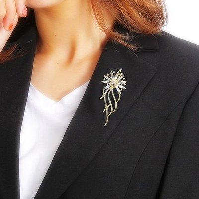 胸花奢華氣質胸針女高檔簡約西裝胸花別針大氣優雅裝飾裙子西服配飾