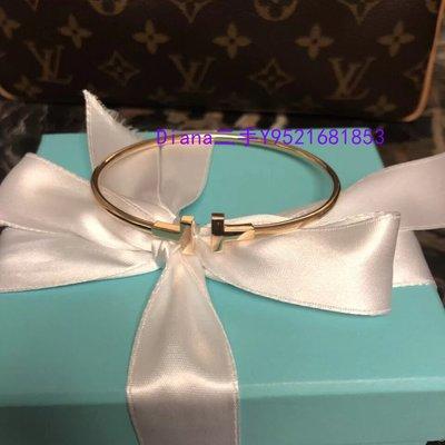 流當奢品 Tiffany蒂芙尼 T系列T1虎眼石線圈手鐲 18K黃金手環 GRP11111 現貨