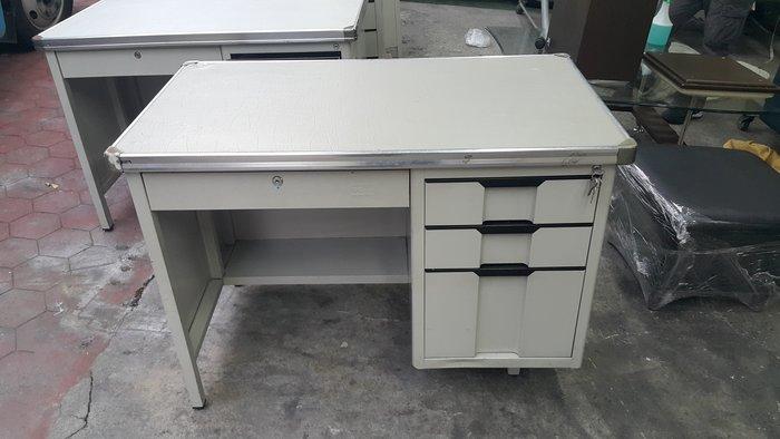 樂居二手家具 家電 全新中古家具賣場 CE1208AJE  四抽辦公桌*鐵桌 書桌 電腦桌 工作桌 2手辦公家具買賣