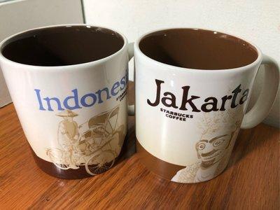 星巴克 印尼 + 雅加達 城市杯 馬克杯 city mug icon 有標無瑕 16oz(大杯)MIT 2杯合賣 免運