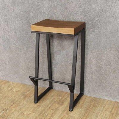 !新生活家具! 斜腳 工業風 美式 吧檯椅 腳踏 高腳椅 休閒椅 商業空間 LOFT《喬治》