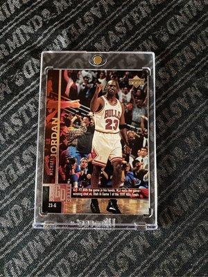 1997 Upper Deck Game Dated Memorable Moments #18 Michael Jordan NBA BGS PSA 鑑定卡