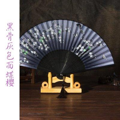 扇子折扇中國風女日式和風小扇子旗袍道具古典真絲折疊扇古風折扇(第6區)