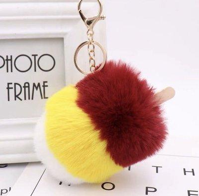 Ice cream Fur Bag Charm Key Chain 雪條 毛毛 掛袋吊飾 鎖匙扣