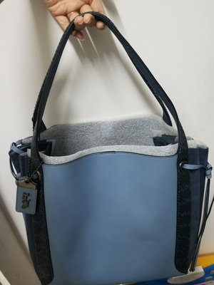 Coach~正品全新Harmony Hobo In Colorblock With Snakeskin Detail