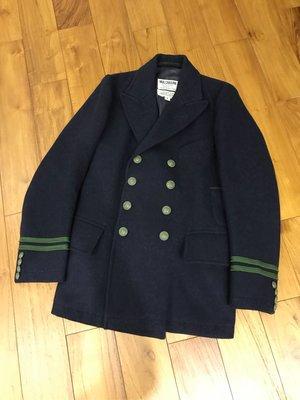 NIGEL CABOURN CAPTAIN SCOTT NAVAL JACKET 羊毛雙排扣外套 英國製 頂級質感 黃金尺寸:1