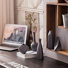日式陶瓷小花瓶創意粗陶水培小花器禪意家居軟裝飾品幹花花插擺件