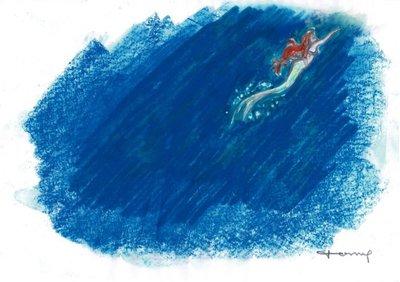 迪士尼Disney 藝術家:Tony Fernandez 小美人魚 附簽名, 附證書