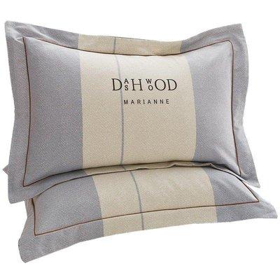 YEAHSHOP 枕套全棉磨毛加厚棉質一對裝大號Y185