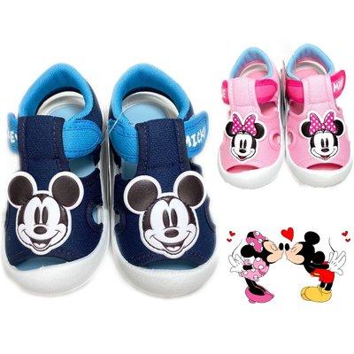 嬰兒護趾涼鞋 米奇米妮 寶寶鞋 學步鞋 台灣製 13-16號 迪士尼