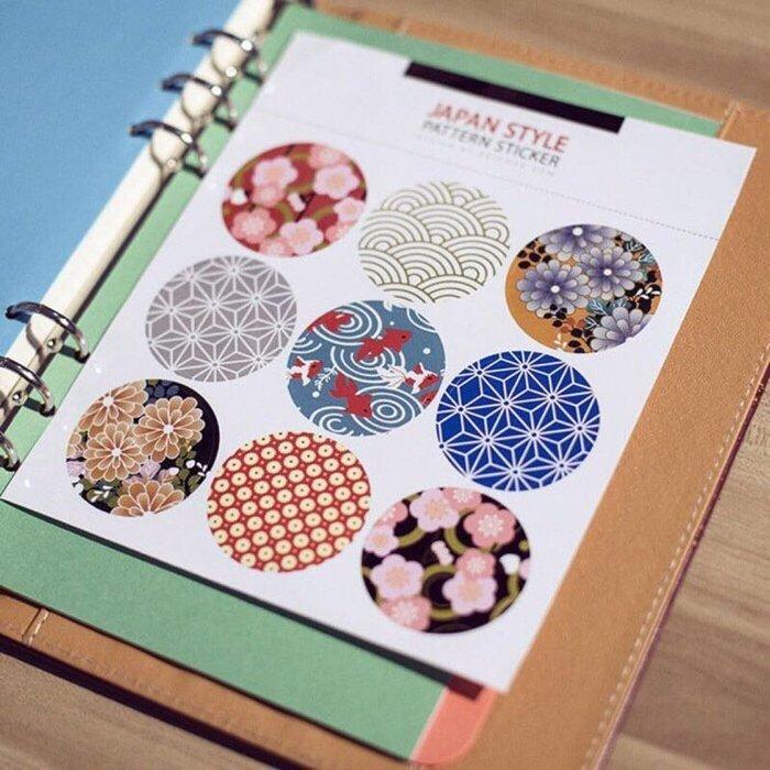 【Japan Style日式傳統印花萬用貼紙】 封口貼 裝飾包裝飾貼