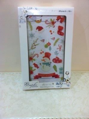 《東京家族》聖誕節彩繪 透明 iphone 6+/6S+手機殼
