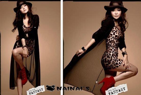 【NAINAIS】Angel‧E 70001 波希米亞透肌款 墾丁必備 棉拼接雪紡超長開衫罩衫外套 現
