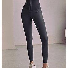 女運動長褲束腰一體設計高腰收腹緊身提臀瑜伽褲壓力褲外穿跑步健身訓練小腳褲  路依坊B1593