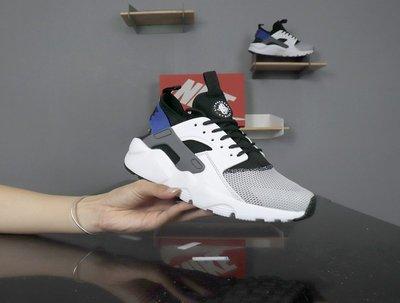 D-BOX Nike Air Huarache Run Ultra 白黑藍 網布 時尚個性 運動鞋 慢跑鞋 男女鞋