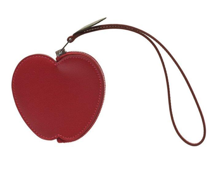 天使熊雜貨小舖~HERMES Tutti Frutti系列蘋果造型牛皮掛腕零錢包(紅色)  義大利  全新現貨
