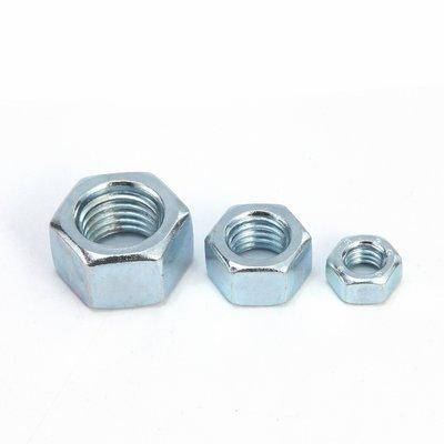奇奇店-4.8級鍍鋅六角螺母六角螺帽外六角螺母 M2--M30 規格全(尺寸不同價格不同請諮詢喔!)