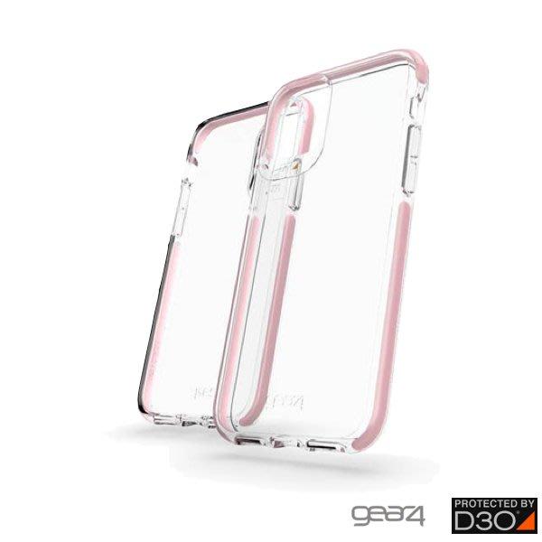 英國軍用 正品 Gear4 Piccadilly iPhone 11 Pro Max 透明防摔保護殼,黑框 (4米防摔)