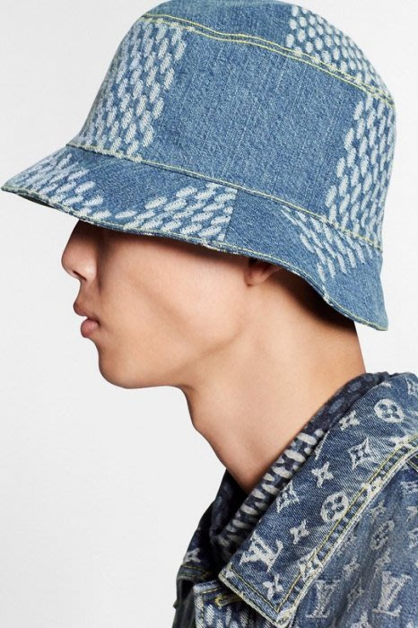 Louis Vuitton MP2733 Damier Geant Wave Monogram 漁夫帽 牛仔藍/黑